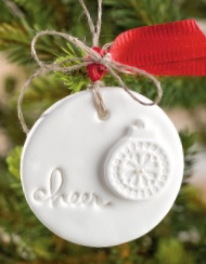 Simply Pressed Clay Ornament