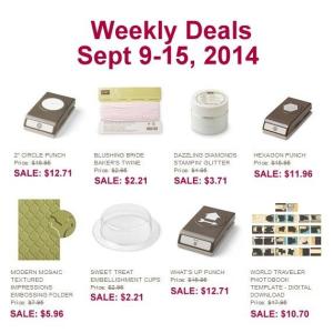 Weekly Deals Sept 9-15