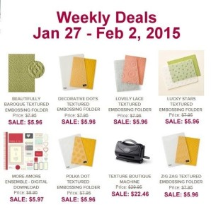 Weekly Deals - Jan 27