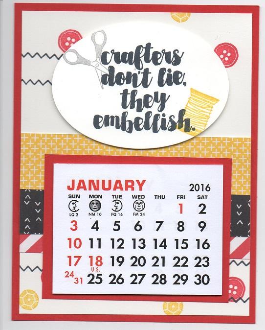 2016 Magnet Calendar