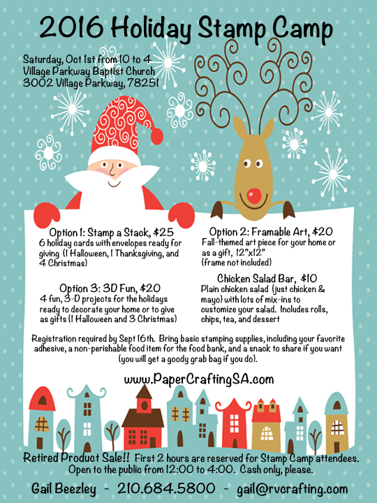 Holiday Stamp Camp Flyer - Gail2